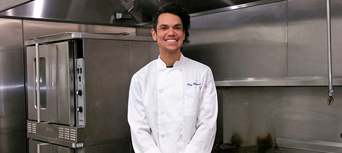 Luiz enrolled in Pathlight Kitchen's free Culinary Training Program in search of new job opportunities